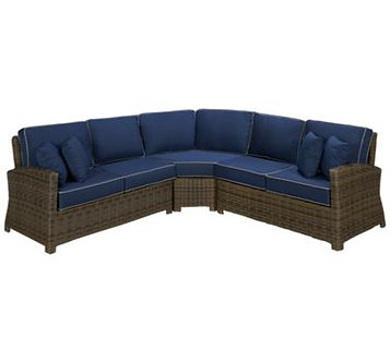 Bermuda 5 Cushion Wedged Sectional