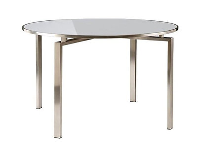 "Mercury 47"" Rd Ceramic Top Dining Table"