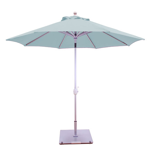 Galtech 9 Ft Deluxe Sunbrella Aluminum Auto-Tilt Umbrella In Driftwood Finish