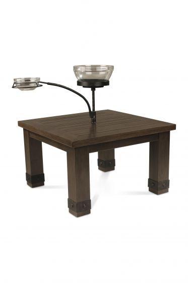 """Sadie 28"""" Sq End Table w/Orbiting Bowls"""