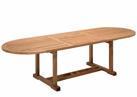 """Bristol 114""""- 84.5"""" Large Oval Extending Dining Table"""