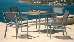 Barlow Tyrie Equinox Dining Set and Dining Chairs