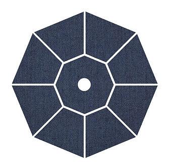Sunbrella Fabric - Spectrum Indigo - 4'x4' swatch