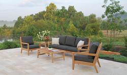 Kingsley Bate Algarve Sofa and Lounge Chairs