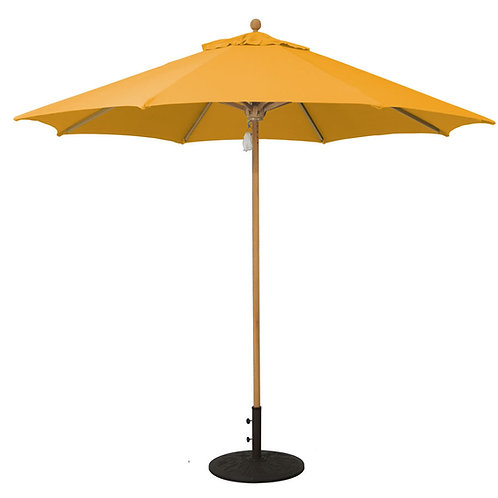 9' Teak Market Umbrella with Pulleys