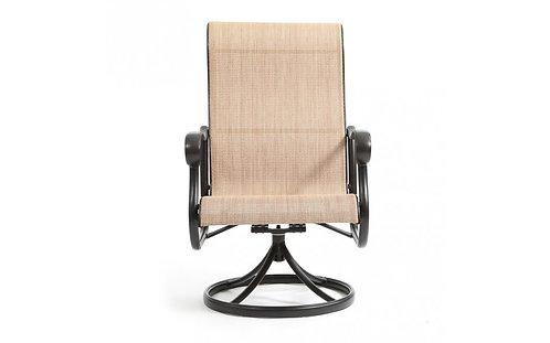 Valbonne Sling Swivel Dining Chair