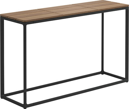 "Gloster Maya 40"" x 12"" Low Console Table Teak"