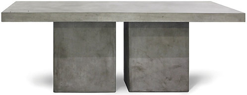 """Concrete 79"""" Rect Dining Table with 2-Leg Base Set"""
