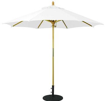 9ft Wood Market Umbrella