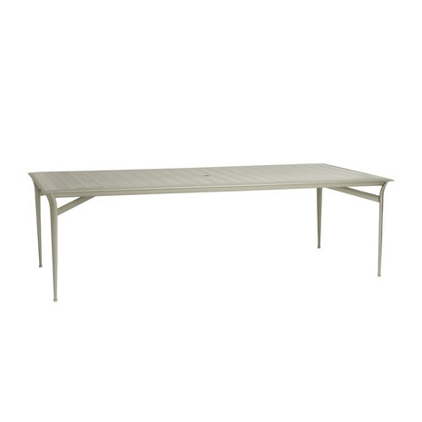 "Brown Jordan Flight 99"" Aluminum Top Dining Table"