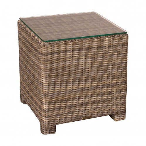 Wicker End Table, North Cape International Bainbridge, NCI Bainbridge, North Cape International Cabo, NCI Cabo, Brown Jordan