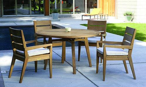 Kingsley Bate Algarve 4 Seat Round Dining Set