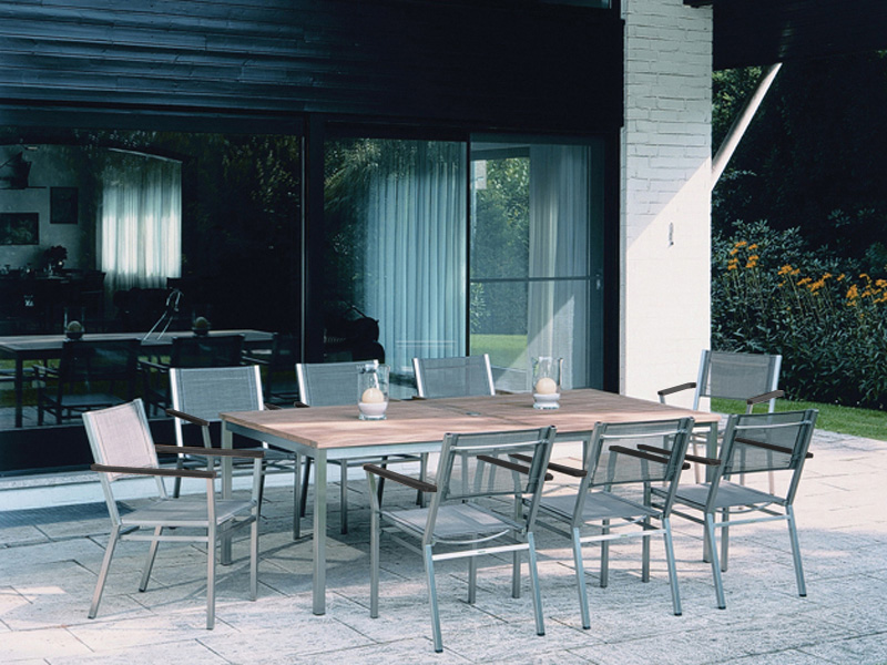Barlow Tyrie Equinox Dining Chairs and Dining Table