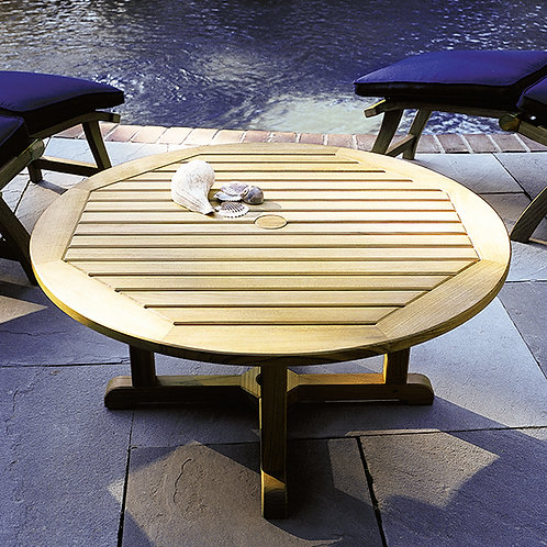 """Kingley Bate Essex 35"""" Rd Coffee Table with Umbrella Hole"""