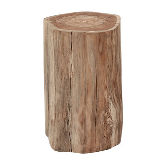 Raw Teak Log Stool/ Side Table