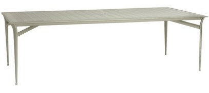 """Flight 99"""" Rect Dining Table w/Glass Top"""
