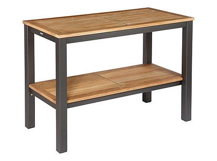 Aura Serving Table w/Teak Top