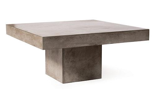 "Concrete Coffee Table with Pedestal Base 39""x39"""