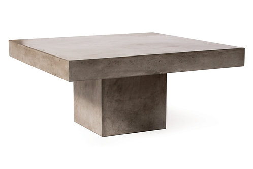 "Concrete Coffee Table with Pedestal Base 39""x39"""