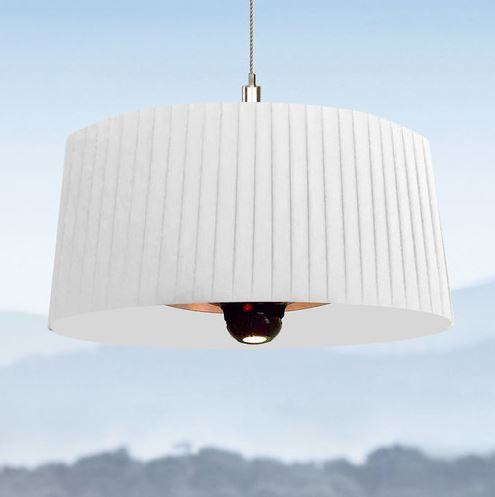 Shade Heated Lamp - White