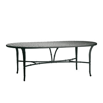 "Calcutta 86"" oval Cast Top Dining Umbrella Table"