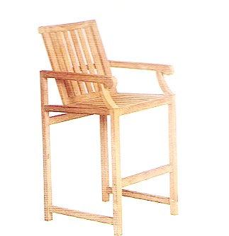 Gloster, Brown Jordan, Kingsley Bate, Barlow, High Bar Chair, Teak Bar Chair, Teak Bar, Bar Chair