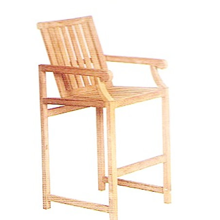 Gloster, Brown Jordan, Kingsley Bate, Barlow, High Bar Chair, Teak Bar Chair, Teak Bar, Bar Chair