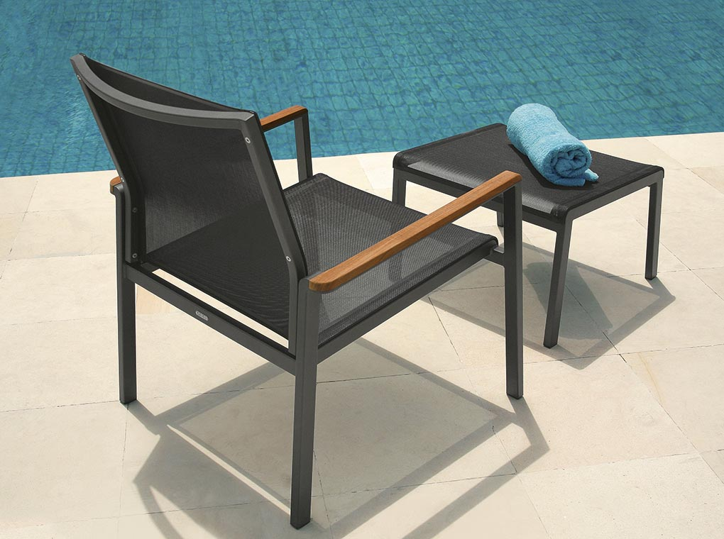 Barlow Tyrie Aura Chair and Ottoman