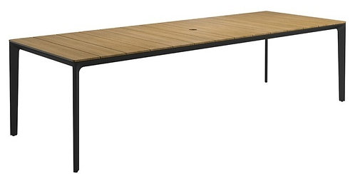 """Carver 110""""Rect w Teak Dining Table"""