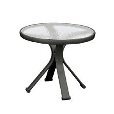 """Quantum 18"""" glass Top Occasional Table"""