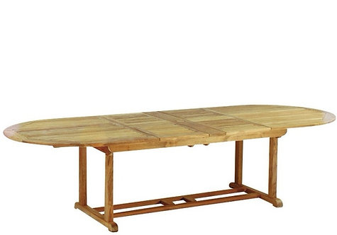 "Kingsley Bate Essex 114"" Oval Extending Table"