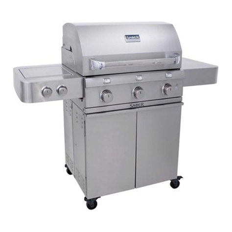 Saber 3 Burner Gas Grill Stainless