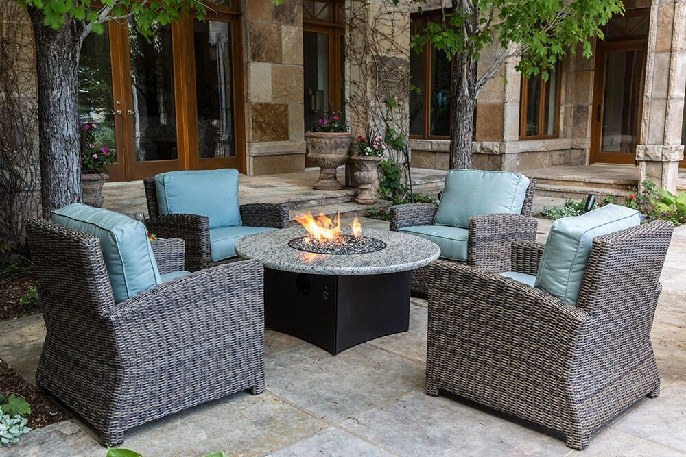 Bainbridge Fire Pit and Lounge Chairs
