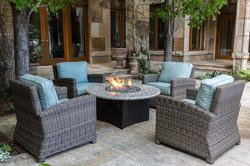 Bainbridge Fire Pit and Lounge Chairs