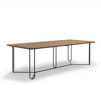 "Walter Lamb 97"" Rect Teak Table"