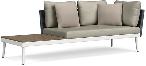 Right Arm Sofa w/Driftwood End Table
