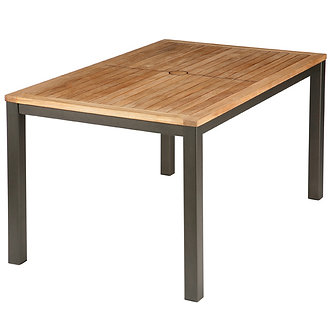 "Aura 79"" Rect Dining Table w/Teak Top"