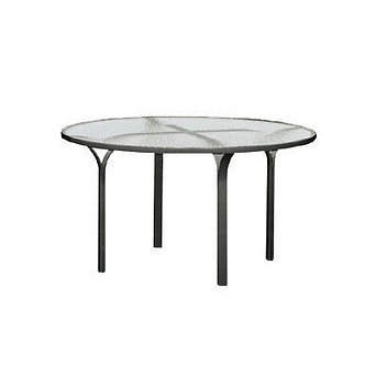 "60"" Glass Top Dining Table"