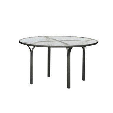"""Brown Jordan Quantum 60"""" Glass Top Dining Table"""