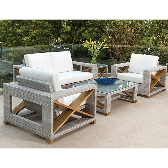 Kingsley Bate Jupiter Lounge Chairs and Loveseat