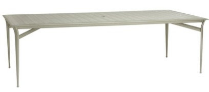 """Flight 79"""" Rect Dining Table w/Glass Top"""
