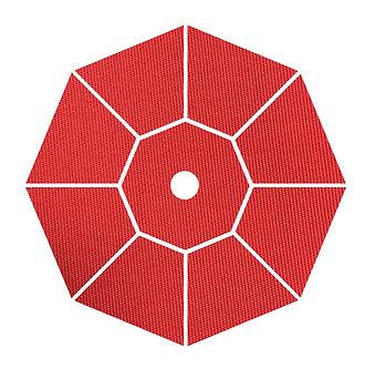 "Sunbrella Fabric - Jockey Red - 4""x 4"" Swatch"