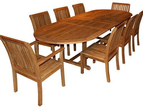 Kingsley Bate 10 Seat Extending Oval Dining Set