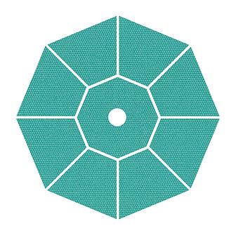 "Sunbrella Fabric - Aruba - 4""x 4"" Swatch"