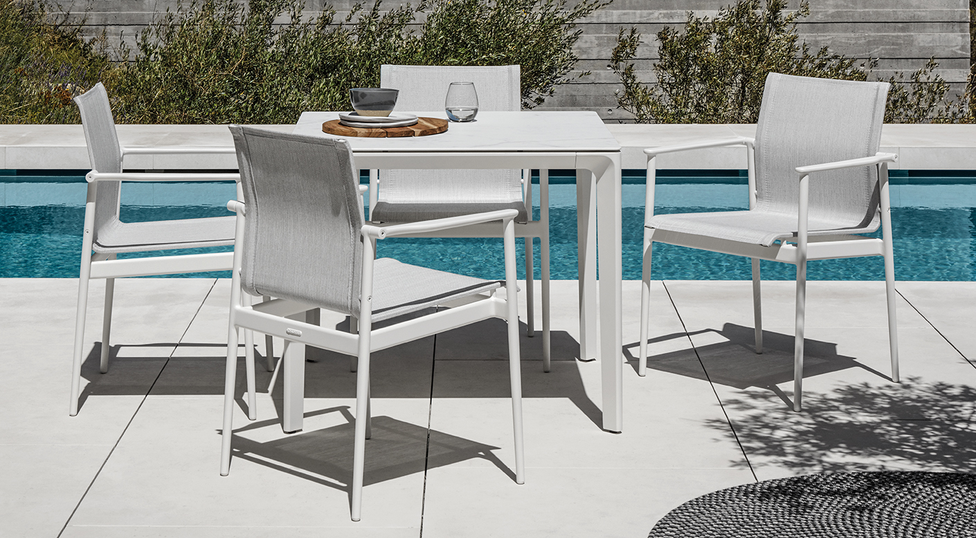 Gloster 180 White Dining Set