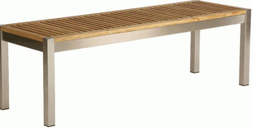 """53"""" Backless Stainless Bench"""