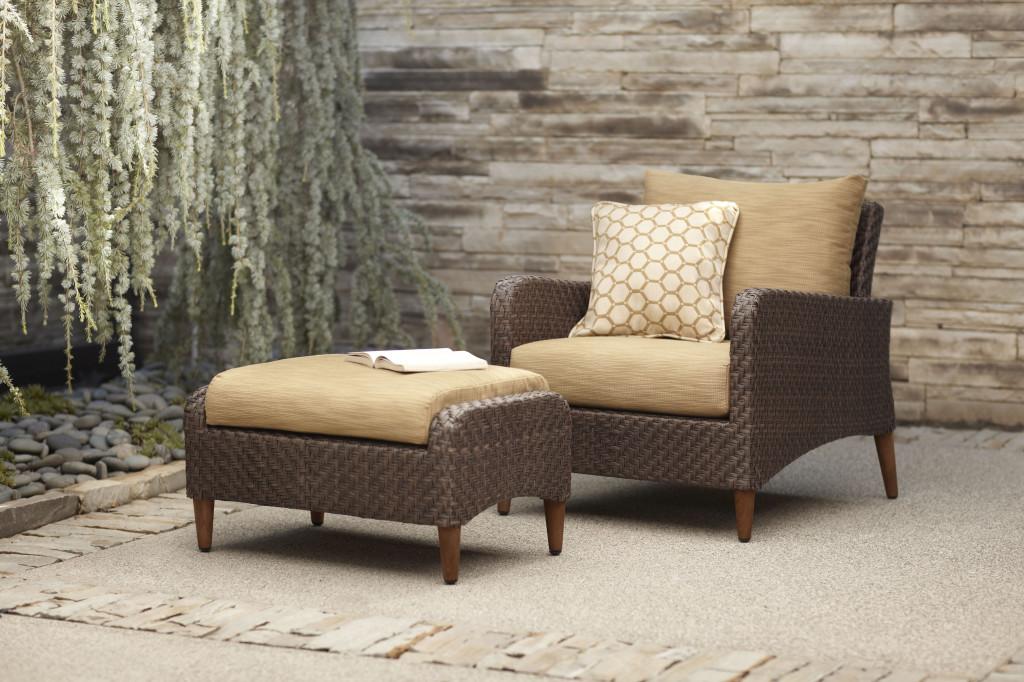 Brown Jordan Greenwich Lounge Chair and Ottoman