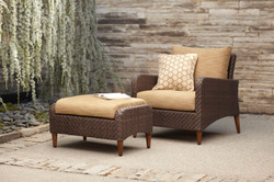 Brown Jordan Greenwich Lounge Chair and Ottoman