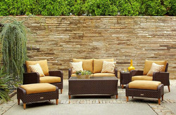 Brown Jordan Greenwich Ottomans and Lounge Chairs and Sofa