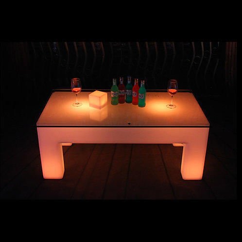 LED Light Up Coffee Table, Light up customizable Coffee Table, LED Coffee Table, LED, LED Table